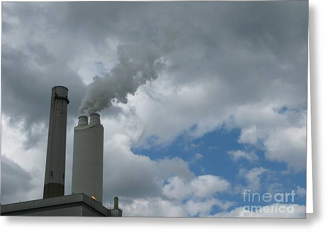 Smoking Stack Greeting Card by Ann Horn