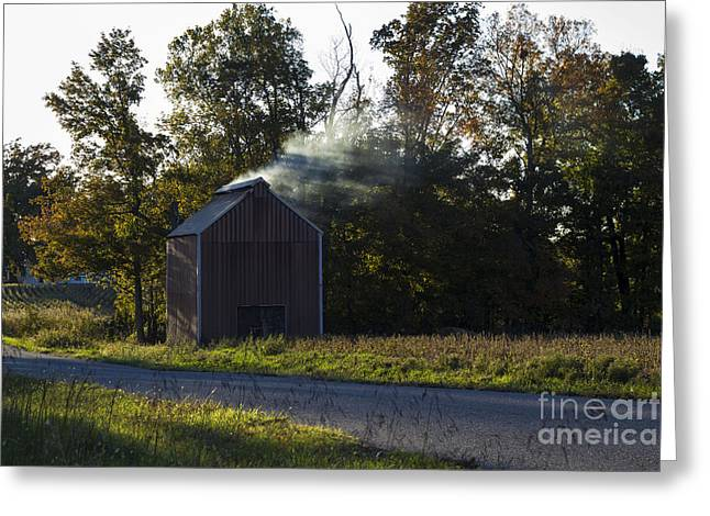 Greeting Card featuring the photograph Smoking Tobacco by Amber Kresge