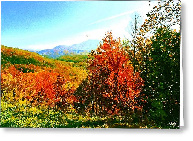 Smoky Mountain Autumn Greeting Card by CHAZ Daugherty
