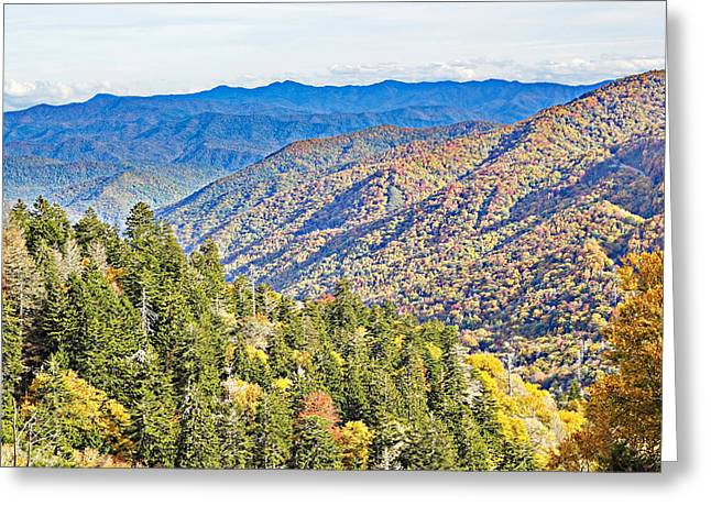 Smoky Mountain Autumn Vista Greeting Card