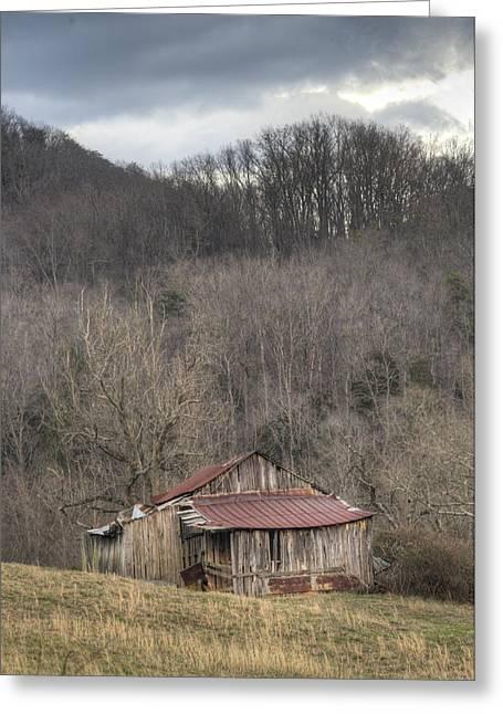 Smoky Mountain Barn 1 Greeting Card by Douglas Barnett