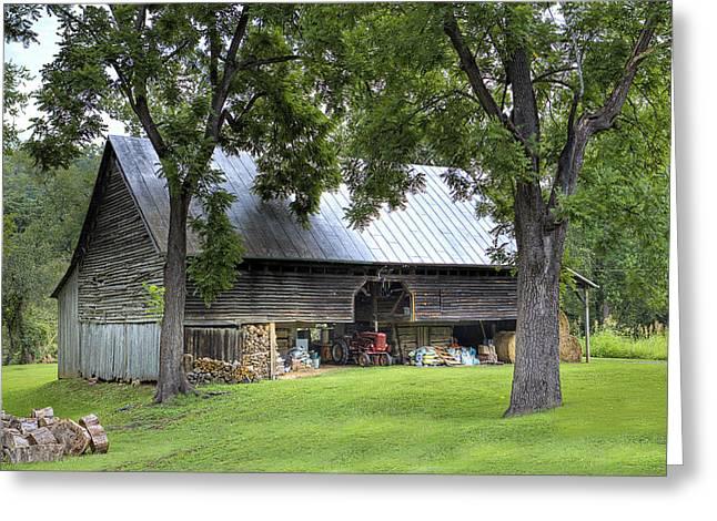Smoky Mountain Barn Greeting Card by Rhonda McClure