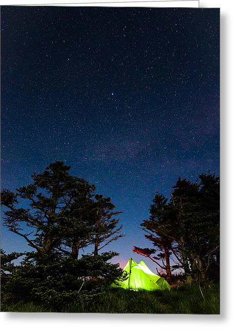 Smoky Mountain Camping Greeting Card by Serge Skiba