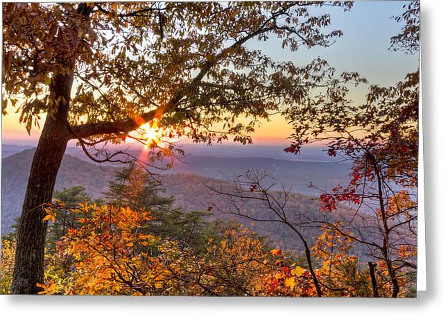 Smoky Mountain High Greeting Card by Debra and Dave Vanderlaan