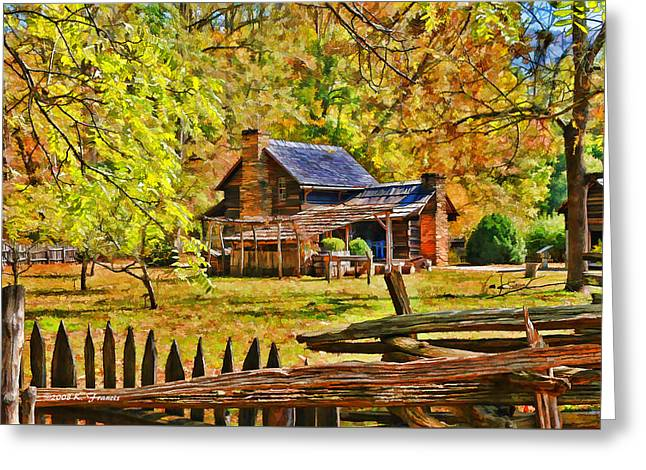 Smoky Mountain Homestead Greeting Card by Kenny Francis