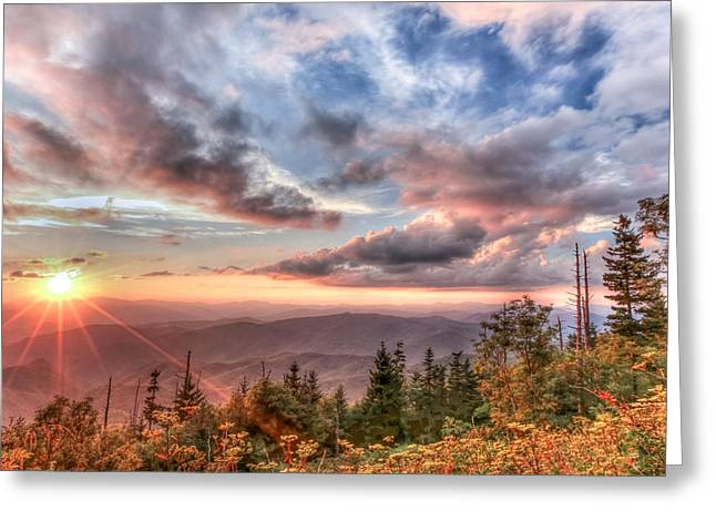Smoky Mountain Lookout Greeting Card by Doug McPherson