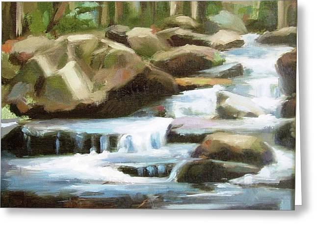 Smoky Mountain Stream Greeting Card by Erin Rickelton