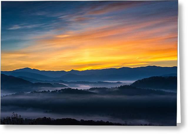 Smoky Mountain Sunrise 1 Greeting Card