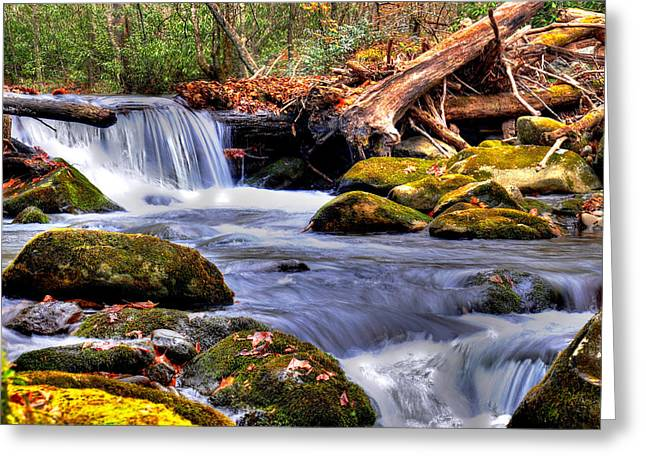 Smoky Mountain Waterfall Greeting Card