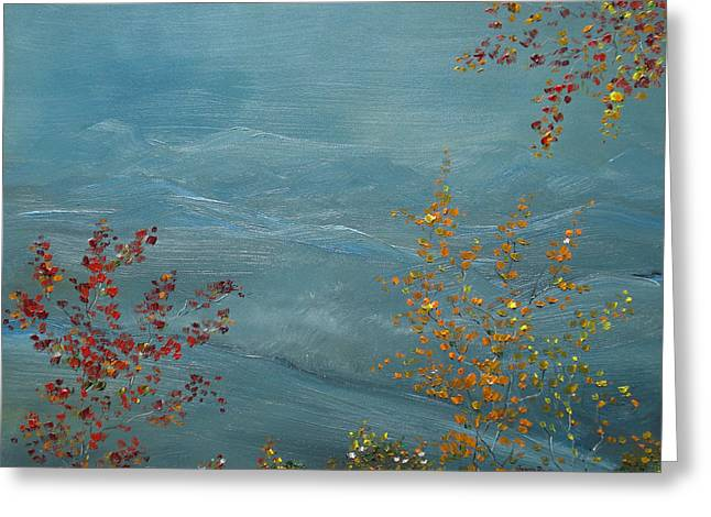 Smoky Mountains In Autumn Greeting Card by Judith Rhue