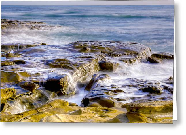 Smoky Rocks Of La Jolla Greeting Card