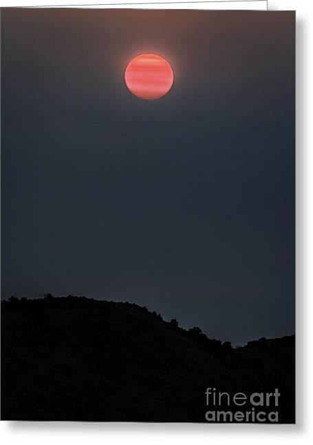 Smoky Sunrise Greeting Card by Mitch Shindelbower
