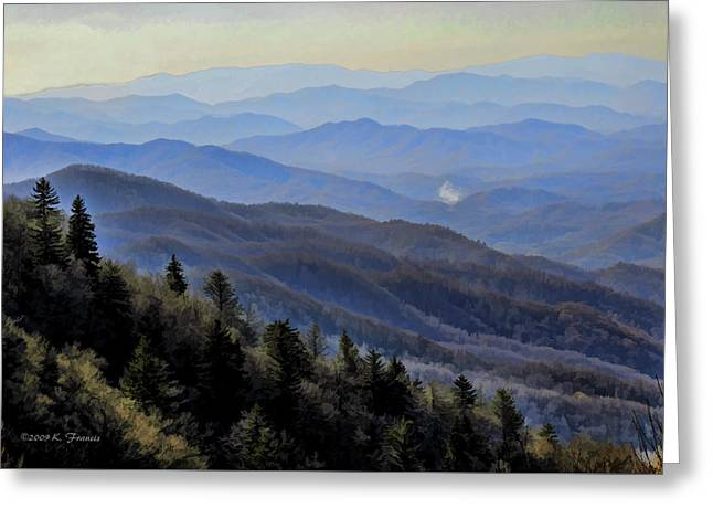 Smoky Vista Greeting Card by Kenny Francis