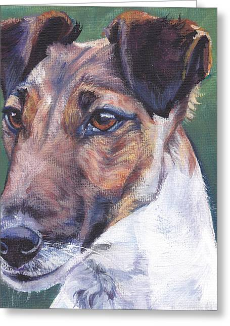 Smooth Fox Terrier Greeting Card by Lee Ann Shepard