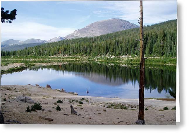 Smooth Lake Reflection Greeting Card