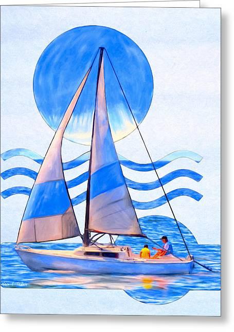 Smooth Sailing Ahead Greeting Card