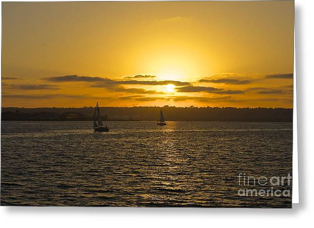 Smooth Sailing Greeting Card by Claudia Ellis