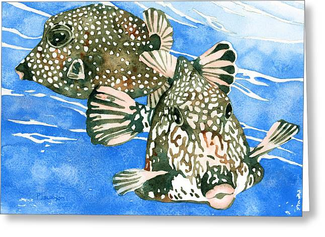 Smooth Trunkfish Pair Greeting Card