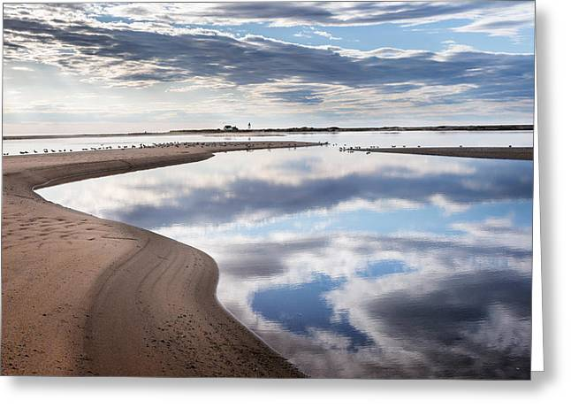 Smooth Water Reflections Greeting Card by Bill Wakeley