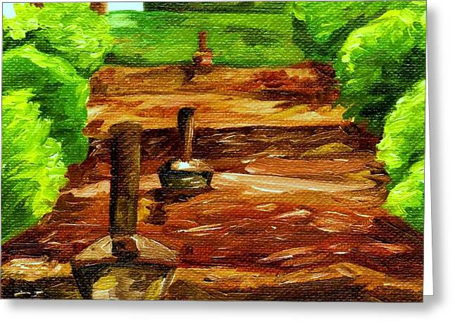 Smudgepots At Burrage Mansion Greeting Card by Blake Grigorian