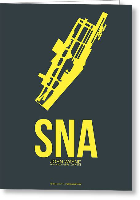 Sna Orange County Airport Poster 3 Greeting Card by Naxart Studio