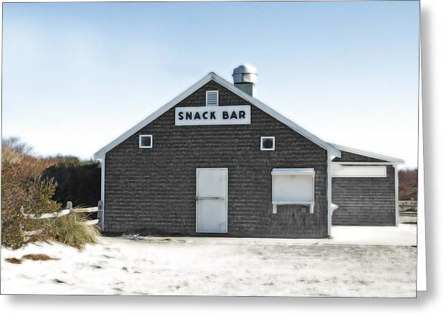 Snack Bar Off-season No. 2 Greeting Card by Brooke T Ryan