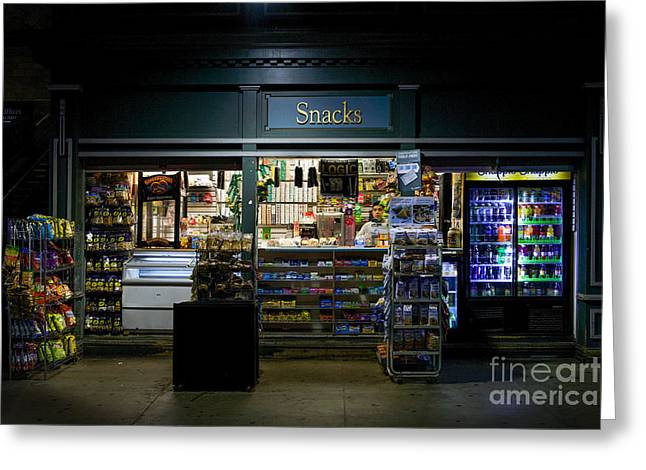 Snack Shop Greeting Card by Jerry Fornarotto