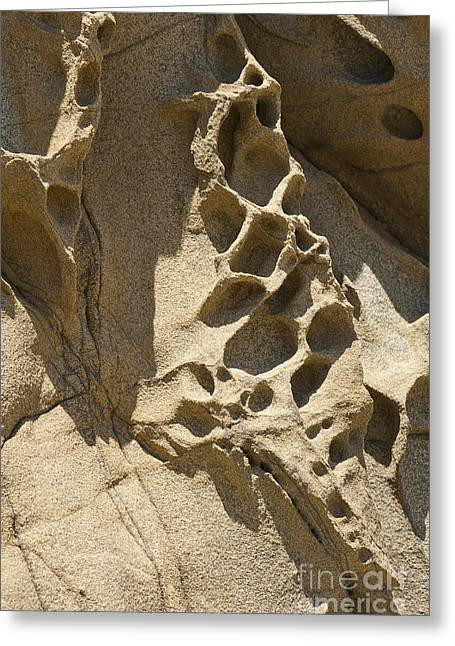 Snadstone Rock Formations In Big Sur Greeting Card by Artist and Photographer Laura Wrede