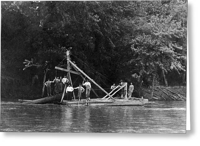 Snag Boat, C1910 Greeting Card by Granger