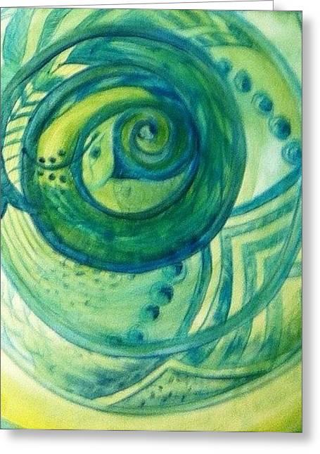 Snake Greeting Card by Bianca Romani