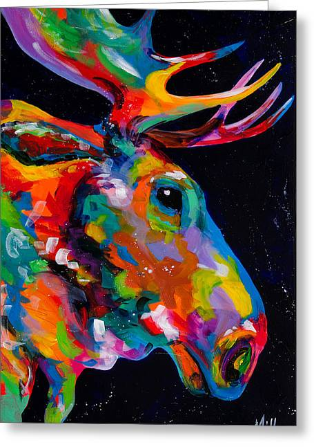 Snake River Moose Greeting Card by Tracy Miller
