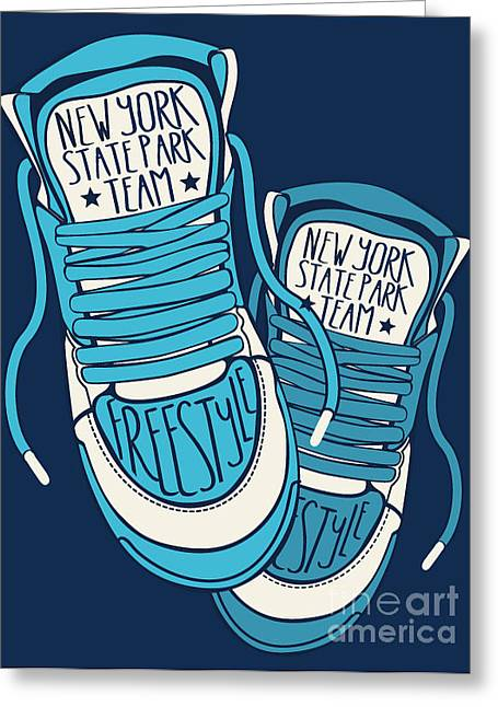 Sneakers Graphic Design For Tee Greeting Card