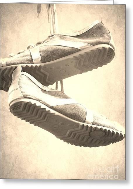 Sneakers Greeting Card by Sophie Vigneault