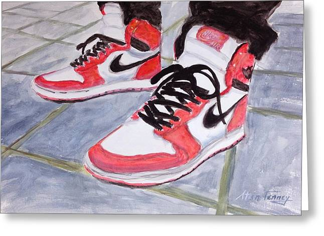 Sneakers Greeting Card by Stan Tenney