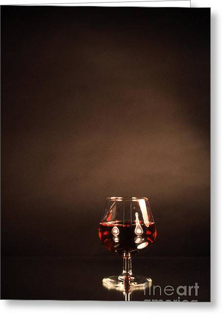 Snifter Greeting Card by Skip Willits