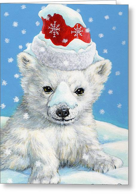Sno-bear Greeting Card by Richard De Wolfe