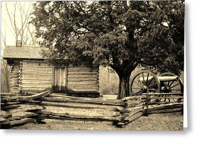 Snodgrass Cabin And Cannon Greeting Card