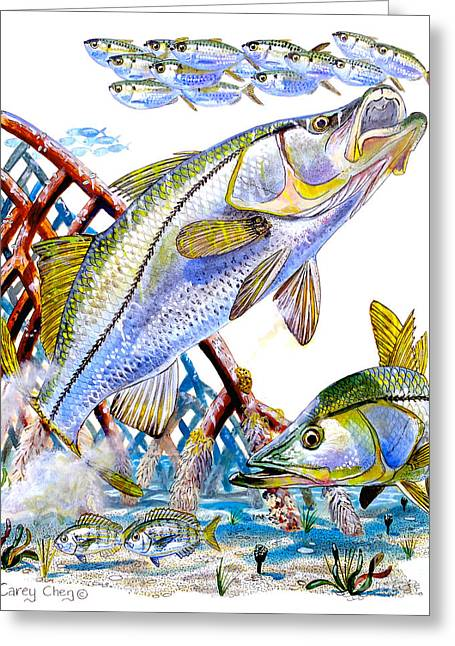 Snook Ambush Greeting Card