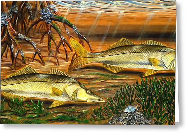 Snook In The Mangroves Greeting Card