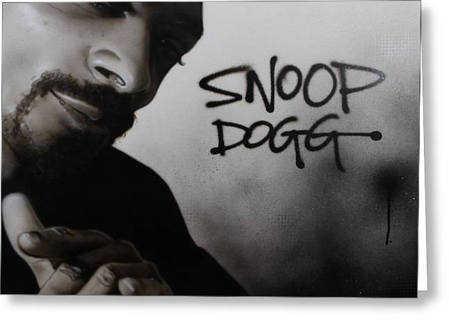 ' Snoop Dogg ' Greeting Card by Christian Chapman Art
