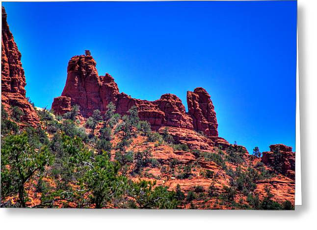 Snoopy Rock In Sedona Greeting Card