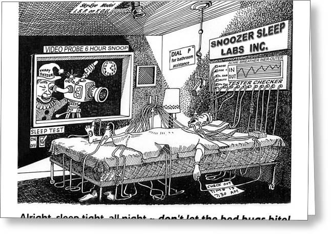 Snoozer Sleep Lab Study Greeting Card by Jack Pumphrey