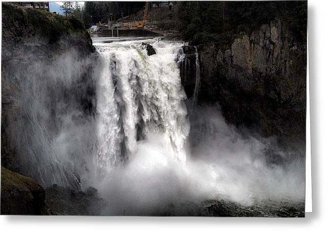 Snoqualmie Falls Greeting Card by Rusty Jeffries