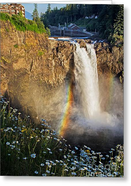 Snoqualmie Falls  Greeting Card by Sonya Lang