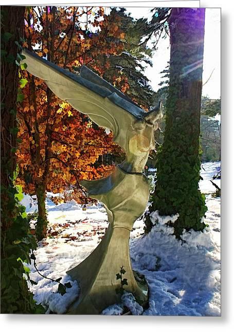 Snow Angel Greeting Card by Chrystyne Novack