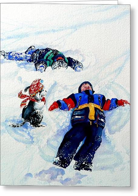 Snow Angels Greeting Card by Hanne Lore Koehler