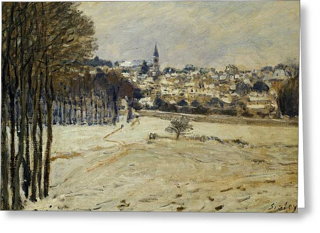 Snow At Marly-le-roi Greeting Card by Alfred Sisley