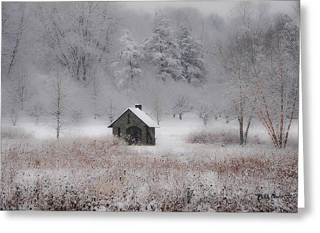 Snow At Morris Arboretum Greeting Card