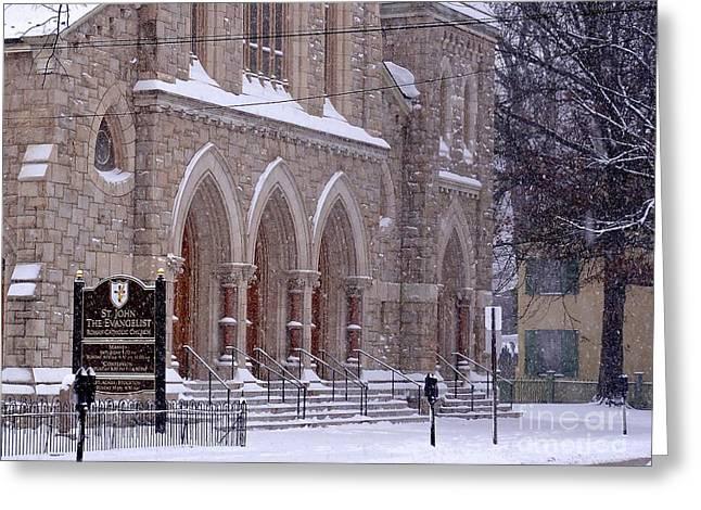 Snow At St. John's Greeting Card