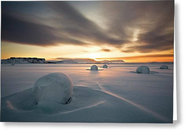 Snow Bales Greeting Card